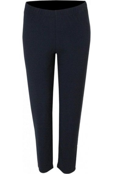Polly Navy Ribbed Leggings
