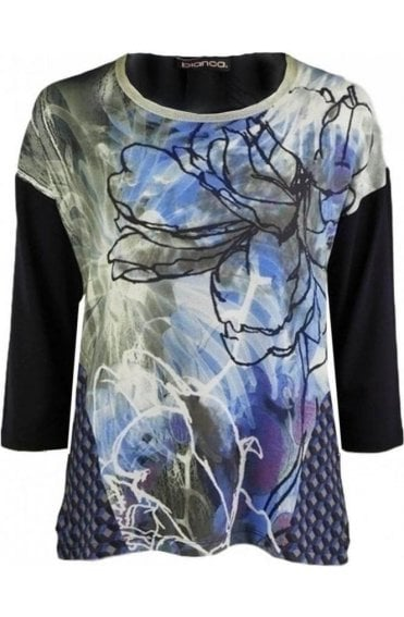 Abstract Floral Design Top
