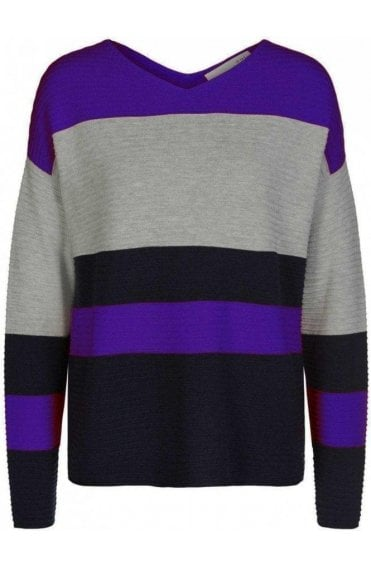 Bold Striped Ribbed Sweater