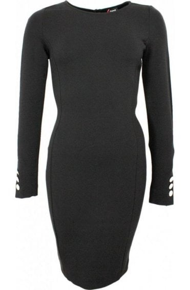 Duke Black Fitted Dress