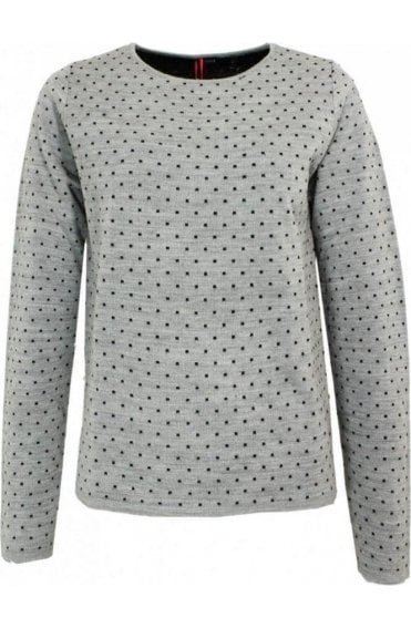 Vignola Grey Spot Print Sweater