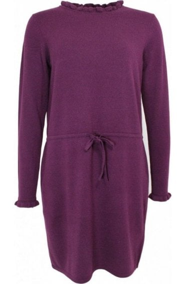Purple Fine Knit Dress