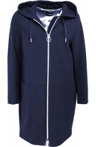 Navy Hooded Coat