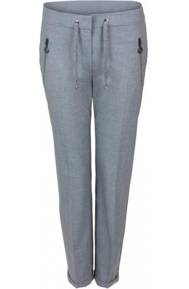 Grey Fitted Trousers