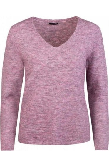 V Neck Light Berry Sweater