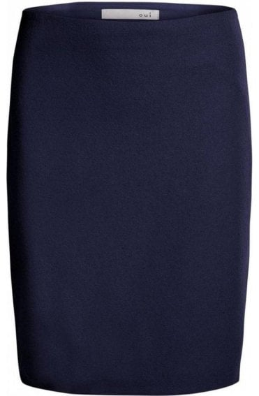 Navy Wool Skirt