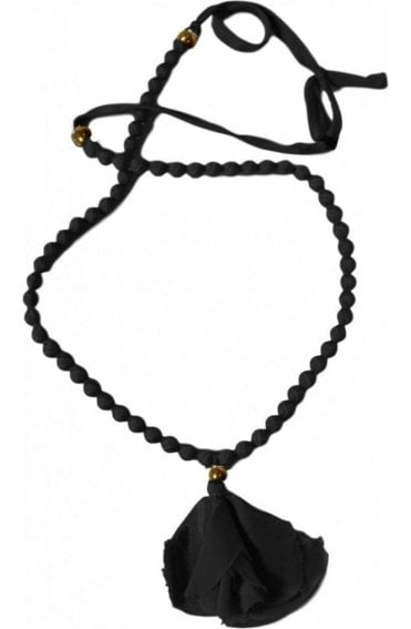 Anna Black Bead Necklace
