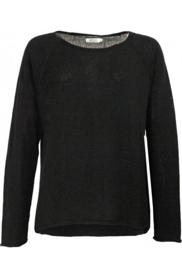 Flora Black Knit Sweater