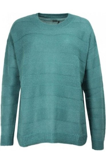 Fiola Mineral Blue Knit Sweater