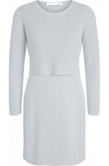 Layered Effect Knit Dress
