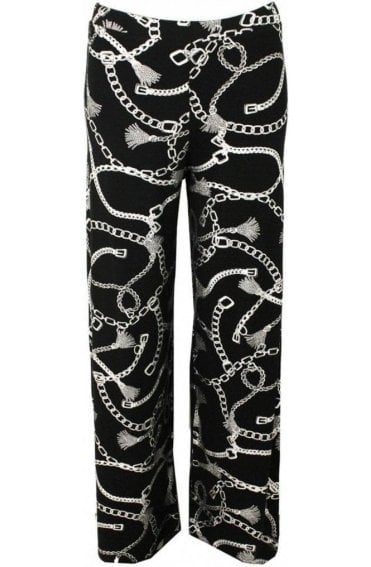 Metallic Chain Print Trousers