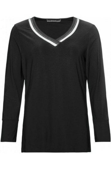 Black V Neck Top