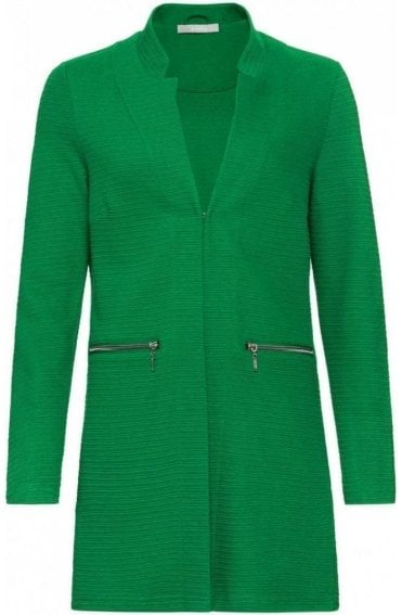 Green Ribbed Jacket