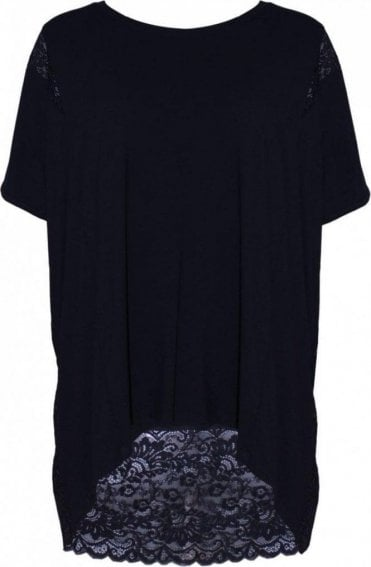 Black Lace Panel Top