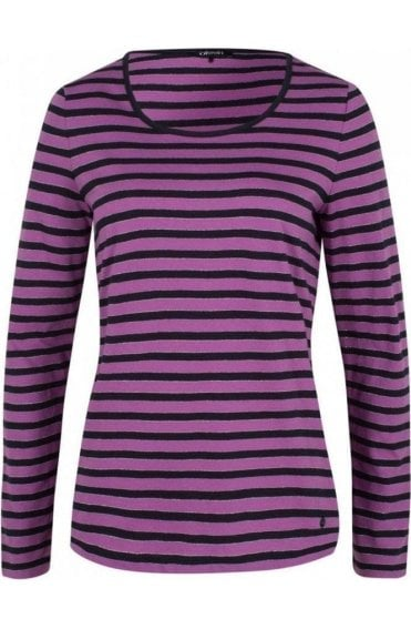 Lilac Striped Jersey Top