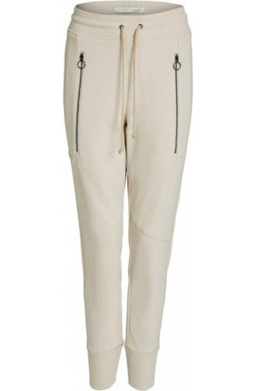 Ecru Casual Fit Trousers
