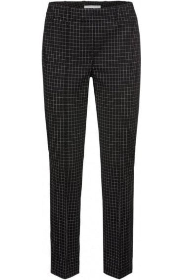 Black & White Check Trousers