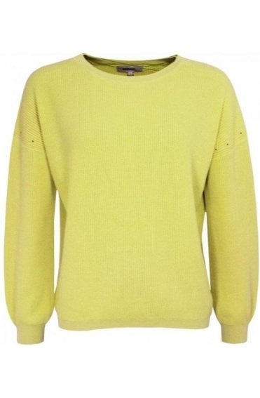 Warm Yellow Ribbed Knit Jumper