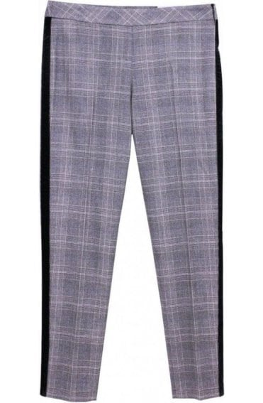 Grey Check Trousers