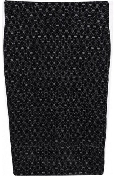 Black Embossed Skirt
