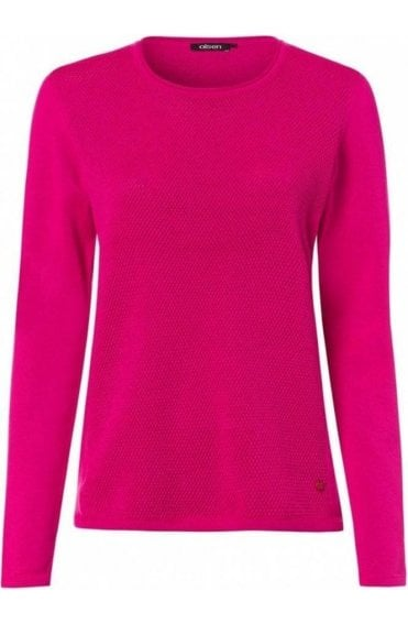 Paradise Pink Textured Knit Jumper