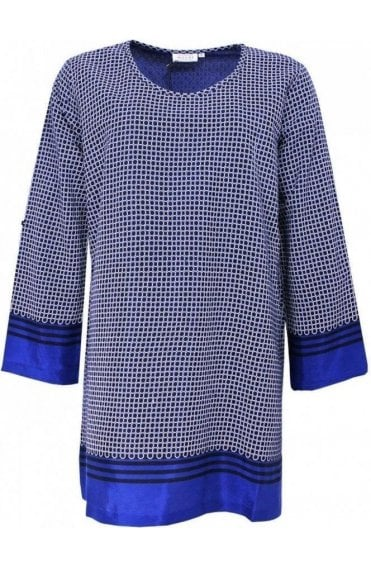 Genista Greek Blue Patterned Tunic