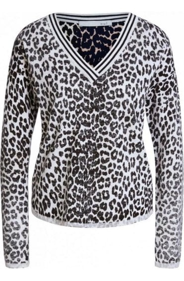 Black Brown Animal Print Jumper