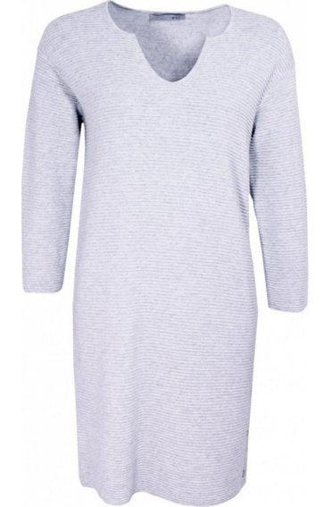 Very Light Grey Ribbed Dress