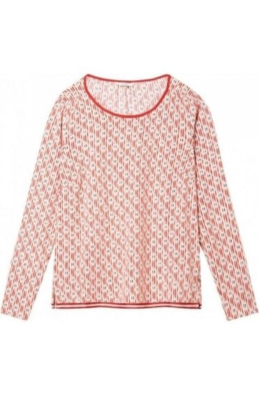 Washed Rose Patterned Blouse