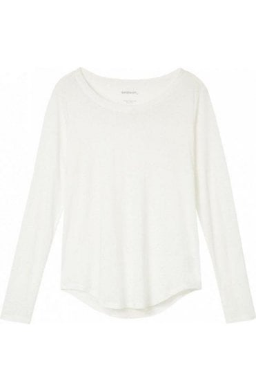 Spring White Long Sleeved Top