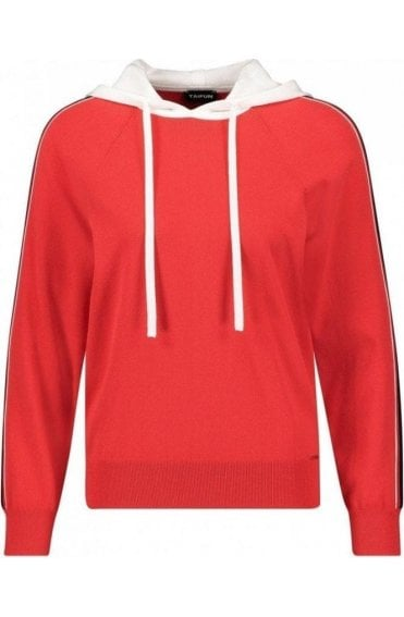 Red Hooded Sweatershirt
