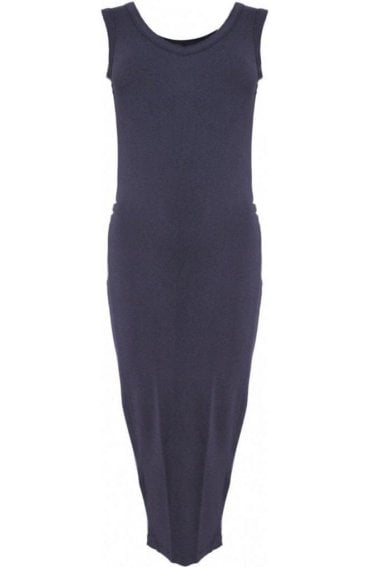 Nancy charcoal midi Dress