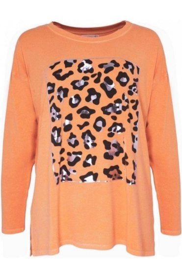 Animal Melba over sized jersey Top