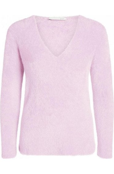 Orchid Pink Textured Jumper