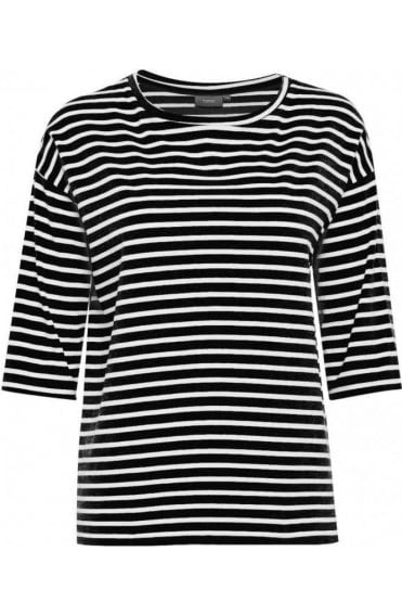Black & White Striped Jersey Top