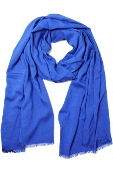 True blue Viscose Scarf