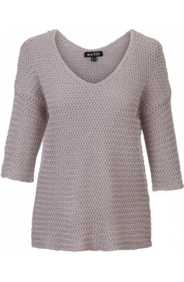 Taupe Woven Knit Jumper