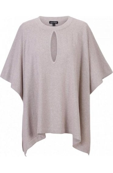 Light Taupe Knit Poncho