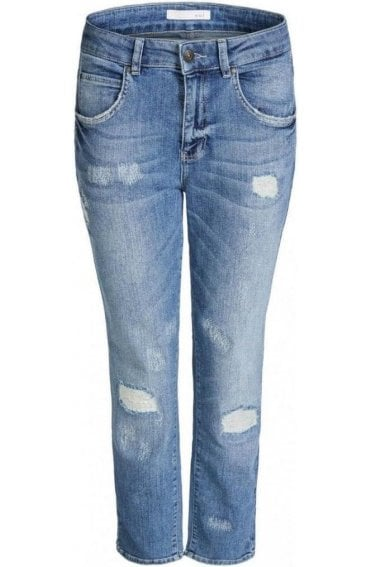 Light Blue Denim Boyfriend Jeans