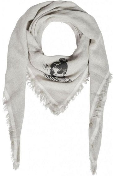 Bleached Rose Square Scarf