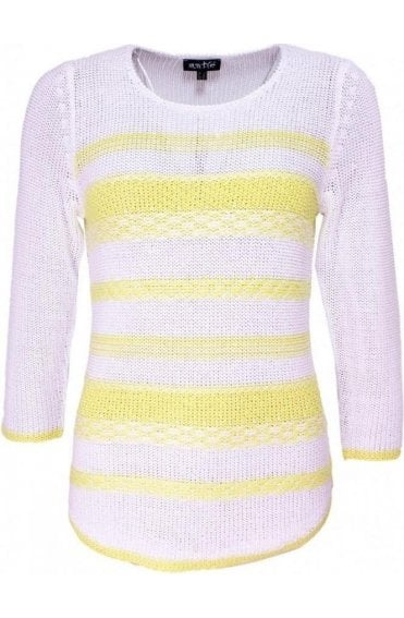 Yellow & White Striped Knit Jumper