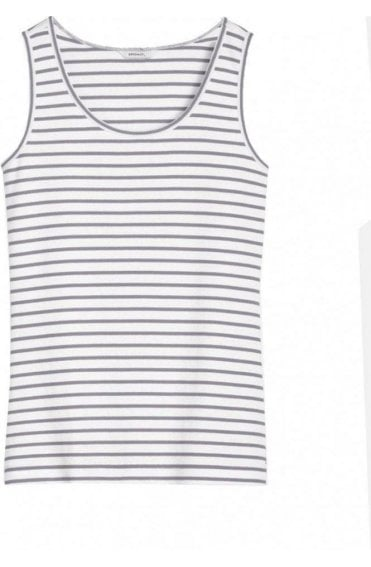 Iron & White Striped Vest Top