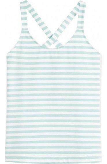 Anise Green Striped Vest Top