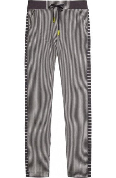 Striped Jersey Casual Fit Trousers