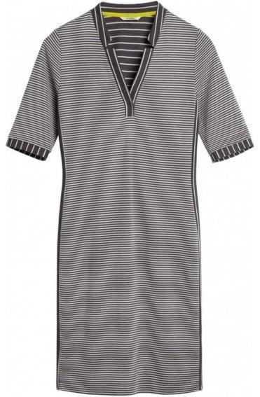Iron Grey Striped Jersey Dress