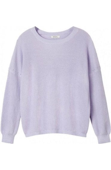 Lilac Ribbed Knit Jumper