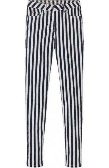 Blue & White Striped Jeans