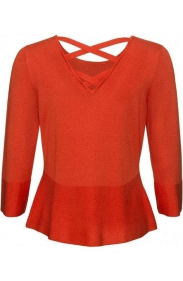 Orange Cross Back Jumper