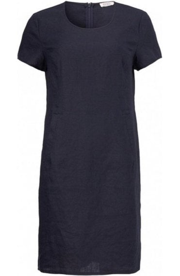 Nabla Navy Linen Dress