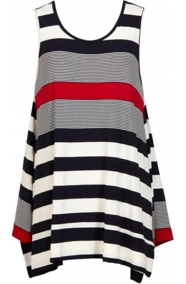 Bold Striped Sleeveless Top